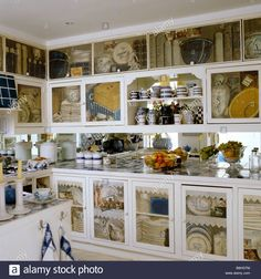 kitchen-cabinets-with-painted-trompe-loeil-panels-B8HGTM.jpg (1300×1390)