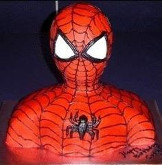 Making A 3D Bust Cake: Spider-Man