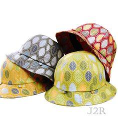 1c82b10db4edd Cotton Bucket Fedora Hats 6 Panel Autumn Leaves Pattern L 2XL J2R JRFF011- Korea