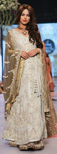 Pakistani Bridal wear - Rani Emaan Bridal Collection at PBCW 2014 Pakistani Couture, Pakistani Bridal Dresses, Pakistani Outfits, Indian Dresses, Bridal Lenghas, Indian Wedding Outfits, Bridal Outfits, Indian Outfits, Pakistan Fashion