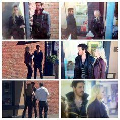 Pics of Colin & Jennifer filming today, 7/16/14 #OUAT #Season4