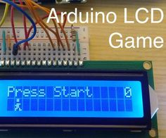 Making a great many things is very easy with Arduino microcontrollers. This Instructable tells you how to create a simple 1-button video game made from a handful of parts in the Arduino Basic Kit from 123D Circuits. It is a side-scrolling jumping game. This serves as a good starting point for creating your own games from simple maker electronics.Parts list (all can be found in the Arduino Basic Kit): 1 x Arduino UNO 1 x LCD screen (16 x 2 character) 1 x Electronics breadboard 1 x 220 Ω…