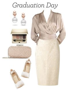"""Graduation, here I come!"" by aleks-g ❤ liked on Polyvore featuring Escalier, Alexander White, Martha Medeiros, Yves Saint Laurent, Clarins and Oscar de la Renta"