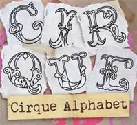 Circus alphabet embroidery