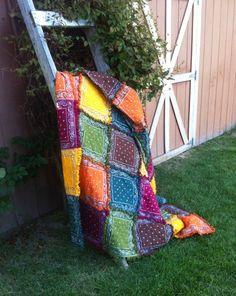 Bandana Rag Quilt (large lap size/throw) by OrganiCraftsbyMiriam on Etsy