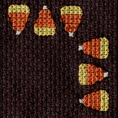 Candy Corn Border Cross Stitch Pattern EMAIL ONLY