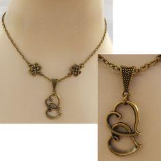 Gold Celtic Knot Double Heart Pendant Necklace Jewelry Handmade NEW Fashion #handmade #Pendant https://www.ebay.com/itm/152927910686