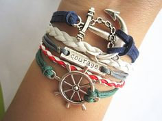 Combined Bracelet Antiqued Silver Rudder Bracelet by WearingPretty, $6.99