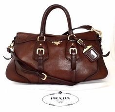 Prada Cervo Antik Gradient Accent Deerskin Cacao Brown Satchel. Save 45% on the Prada Cervo Antik Gradient Accent Deerskin Cacao Brown Satchel! This satchel is a top 10 member favorite on Tradesy. See how much you can save