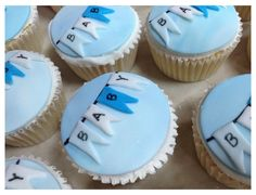Torta Baby Shower, Baby Shower Cupcakes For Girls, Baby Shower Bunting, Cupcakes For Boys, Baby Cupcake, Girl Cupcakes, Baby Boy Shower, Cupcake Cakes, Fun Cupcakes