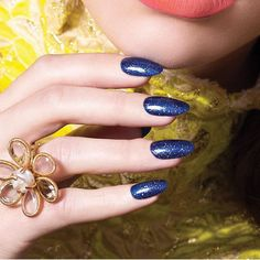 """Sapphire blue mixed with light reflecting shimmer is always stunning. 
