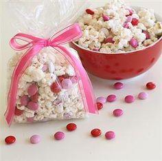 Valentine Popcorn Treats