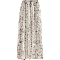 J.Crew Printed silk-crepe maxi skirt (1.045 RON) ❤ liked on Polyvore featuring skirts, bottoms, maxi skirts, saias, frilly skirt, ankle length skirts, j crew skirts, floor length skirt and taupe maxi skirt