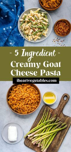 This creamy goat cheese pasta uses a simple sauce with just a few ingredients. It's a quick and easy dinner idea but you'd never know it from the taste! #dinner #veggies #simple Fall Recipes, Great Recipes, Goat Cheese Pasta, Few Ingredients, Goats, Vegetarian Recipes, Dinner, Vegetables, Heart