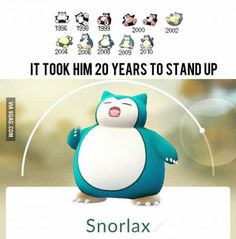 It took him 20 years to stand up