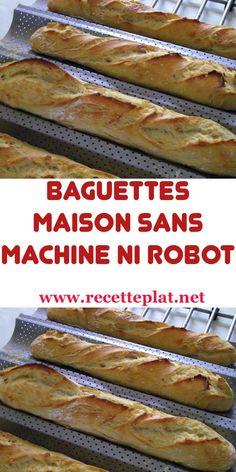 Baguette Recipe Bread Machine, Homemade Baguette Recipe, Appetizer Recipes, Appetizers, Bagel Recipe, Vegan Kitchen, Football Food, Easy Food To Make, Food Presentation
