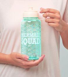 Blue Mermaid Design Water Bottle | New Look Water Bottle Design, Mug Cup, New Look, Mermaid, Mugs, Blue, Squad, Instagram, Bottles