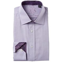 English Laundry English Laundry Dress Shirt (412010901) ($40) ❤ liked on Polyvore featuring men's fashion, men's clothing, men's shirts, men's dress shirts, purple, mens purple shirt, mens cotton dress shirts, mens floral print dress shirt, mens patterned dress shirts and mens french cuff dress shirts