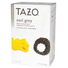 Tazo Teas, Earl Grey, Black Tea, 20 Filterbags, oz g) (Discontinued Item) Vitamins For Kids, Tazo, Earl Grey Tea, Tea Blends, My Tea, Natural Herbs, Iced Tea, Lemon Grass