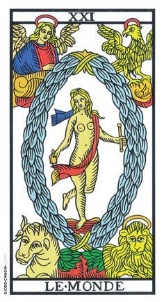 See the maps of the Tarot reconstructed by Camoin and Jodorowsky - Camoin Tarot of . - - See the maps of Tarot rebuilt by Camoin and Jodorowsky – Camoin Tarot de Marseille The World Tarot Card, Le Bateleur, Sphinx, Tarot Major Arcana, Tarot Card Meanings, Aleister Crowley, Tarot Decks, Archetypes, Pentacle