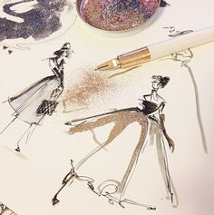 I love the illustrator behind PAPERFASHION.net | where fashion meets paper | One of my favorite contemporary fashion illustrator-bloggers.