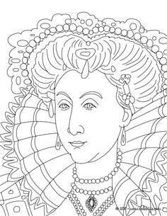 queen elizabeth i coloring page for sonlight core a week 9