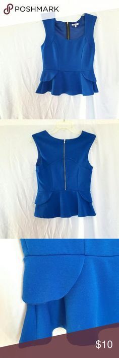 Medium royal blue top Worn once & in great condition. Would look super cute with a pair of skinny jeans and some heels for a night out. ??  No trades.   Feel free to make an offer via offer button only. Charlotte Russe Tops