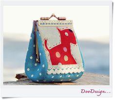 Coin purse / Linen coin purse / Metal frame purse by DooDesign Handmade Design, Handmade Art, Handmade Gifts, Cat Purse, Frame Purse, Last Minute Gifts, Small Bags, My Bags, Special Gifts