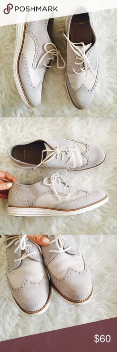 SOLD Cole Haan Lunargrand Wing Tip Oxfords Hyper-real hues splash street-smart sass along a reinvented wingtip fused with a futuristic, sculpted sole. Definitive Lunarlon technology tops off the go-anywhere ease of an impeccable, lab-tested design for a streamlined, flexible fit.in good condition , worn once . No trades. Cole Haan Shoes Sneakers