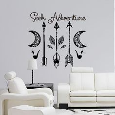 Awesome Dream Catcher Decal Feather Sticker Boho Dreamcatcher Wall Decals  Quotes For Bedroom Nursery Hippie Decor Bohemian Bedding Art Part 58