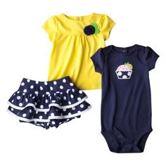 Just One You™ by Carter's® Infant Girls' 3-Piece Set - Yellow/Navy