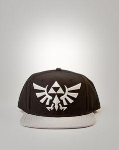 4d484d24f66 Embroidered Zelda Snapback Hat Silver - Spencer s
