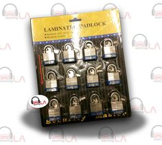 Sourcing-LA: 30mm LAMINATED STEEL CASE PADLOCK 12pc SET KEYED $...