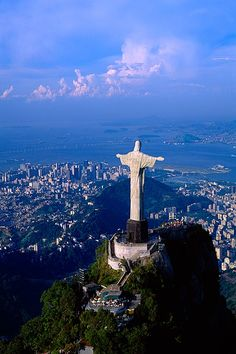 The statue of Christ, Corcovado Mountain, Rio de Janeiro, Brazil.I want to go see this place one day.Please check out my website thanks. www.photopix.co.nz