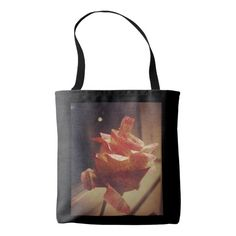 Vintage Rose black tote