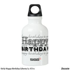 Girly Happy Birthday Liberty SIGG Traveler 0.3L Water Bottle