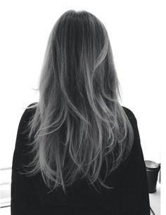 Black to grey ombre. I am really starting to fall in love with this, but I'm not sure it's appropriate for the office or not :S: