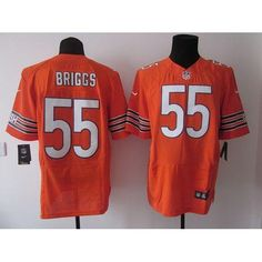 Lance Briggs Elite Jersey: Nike NFL #55 Chicago Bears Jersey In Orange  $23