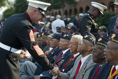 Marine Corps recognizes accomplishments of first African American Marines, the Montford Point Marines. (U.S. Marine Corps photo by Cpl. Jeremy Ware)
