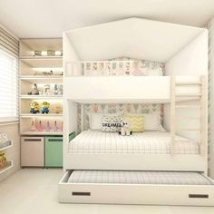 When it comes to room decor, be it large or small, the most important is to offer aconhechego residents. Bed For Girls Room, Bedroom Decor For Teen Girls, Cute Bedroom Ideas, Room Ideas Bedroom, Small Room Bedroom, Girl Room, Room Ideas For Girls, Small Girls Bedrooms, Teen Bedroom Designs