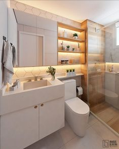 Cozy and cozy bathroom with lighted hexagonal finish and ceramic s . Washroom Design, Toilet Design, Bathroom Design Luxury, Bathroom Design Small, Bathroom Layout, Simple Bathroom, Modern Bathroom, Home Room Design, House Design