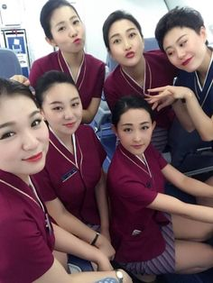 China Southern Airlines, Airline Uniforms, Cabin Crew, Flight Attendant, Korean Beauty, Summer Wear, Workplace, Asian Girl, Pilot