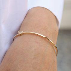 Bangle With Diamond Cut Zircon, Silver Gold Filled, Matt Finish Engraved Bracelet, Gold Bangle Bracelet, Lion Bracelet, Vintage Bracelet, Trendy Bracelets, Dainty Bracelets, Gold Gold, The Bangles, Plain Gold Bangles