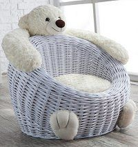 Willow Bear Chair White Polar Penguin Nursery Room