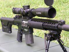 The SR-25 (Stoner Rifle-25) is a semi-automatic sniper rifle.