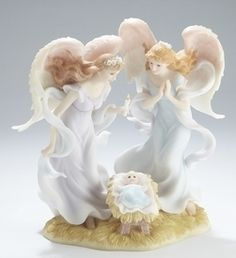 "Seraphim Angel 8.25"" Angels With Baby Jesus #70996    http://www.tjsvariety.com/8-25--angels-with-baby-jesus.html"