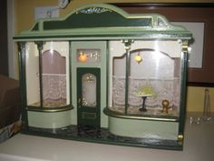 Vintage English Doll House Miniature Shop Room Box 1:12 scale