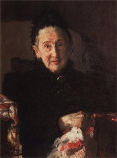 Portrait of L.I. Shestakova, sister of composer Mikhail Glinka, 1899 - Ilya Repin - WikiArt.org
