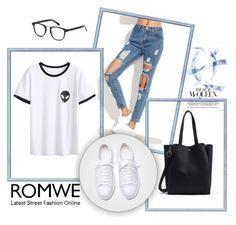 """""""Romwe 10/XIV"""" by nermina-okanovic ❤ liked on Polyvore featuring romwe"""