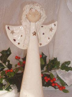 Large Handmade Ceramic Angel by LadybugsBall on Etsy, £42.50